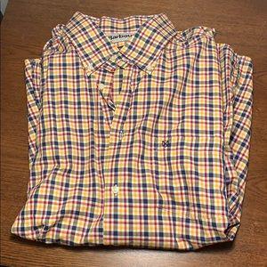 Barbour button down plaid shirt